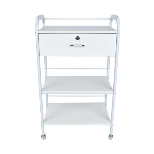 white utility cart, salon beauty trolley wooden cart