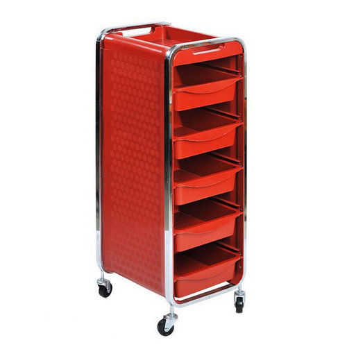 modern hair salon hairdressing trolley / barber shop tool cart / spa storage cart with drawers