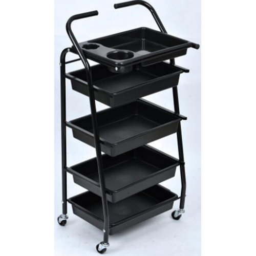 Cheap Plastic Hair Salon Rolling Cart Coloring Hair Trolley