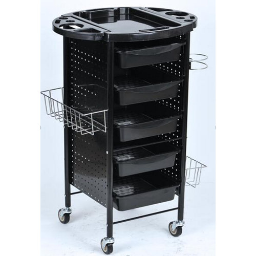 Black color hairdressing hair salon trolley hair trolley for sale