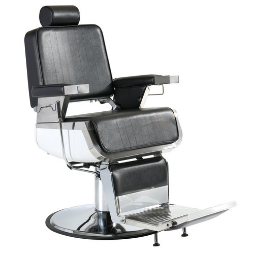 High back black leather reclining hydraulic men recline hairdressing barber chairs