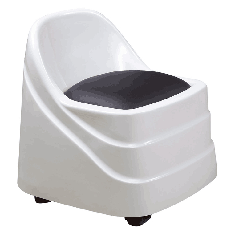 Technician stool chair for spa pedicure station