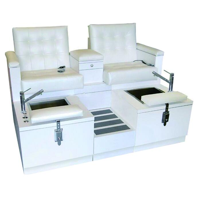 Double Spa Chair Pedicure Station Foot Massage Bench