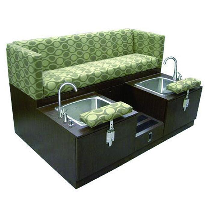 Cheap double foot massage basin stations pedicure benches