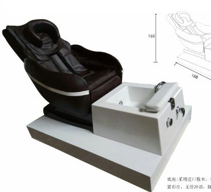Full body massage foot spa station pedicure nail chair