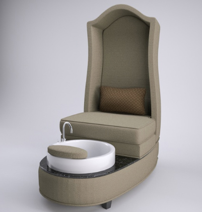 High back foot spa massage bowl station pedicure nail chair