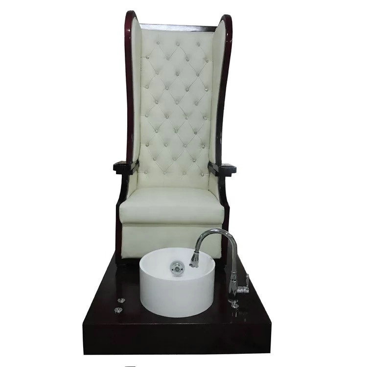 High back King Queen throne manicure bowl chair pedicure station