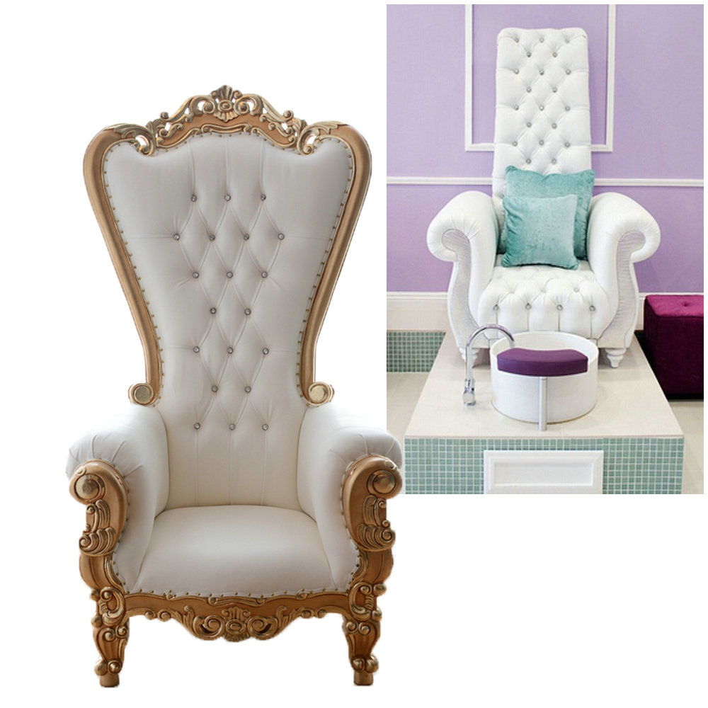 Queen Throne Chair King Pedicure Bowl Station Nail Equipments