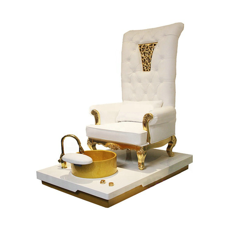 Queen nail throne chair spa pedicure bowl station made in China