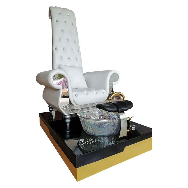 High back Queen throne station nail spa pedicure chairs