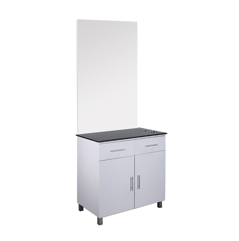 Aston styling station barber mirror cabinet salon furniture
