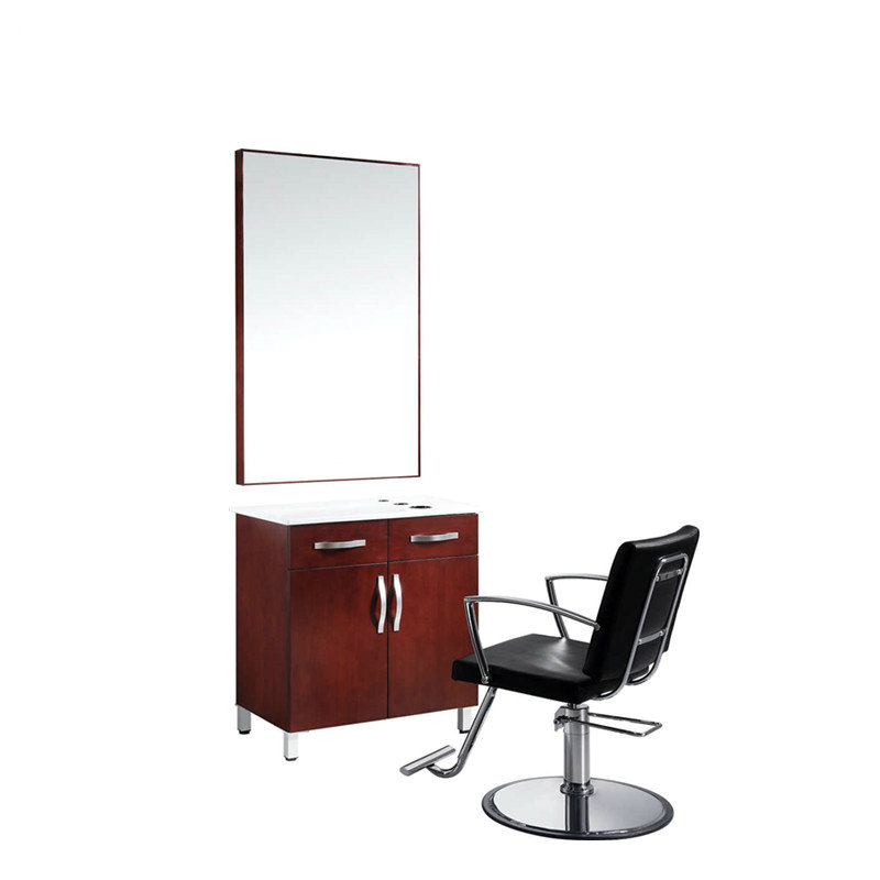 Aston barber styling mirror station salon furniture